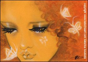 Butterfly Fairy Kisses -ACEO SKETCH FEST by Katerina-Art