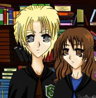 Draco and Hermione by divineoblivion