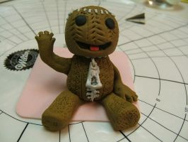 Gumpaste Sackboy by Ka2Spider1