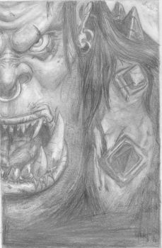Warcraft 3 Cover Ork by Almabali