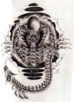 Alien tattoo by Nathaldron