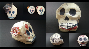 Day of the dead Skulls by Maleijn