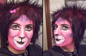 Cheshire Cat makeup practice 2 by toberkitty