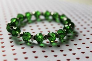 Green and Star Bracelet by Clerdy