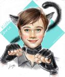 Chris Colfer cosplaying cat by linelin126