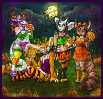 The Ghouls of Halloween by v-e-r-a