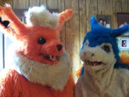 Flareon and Typhlosion fursuit! by Requiem-Owl