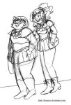 Velma and Daphne as Sailor Scouts by brensey