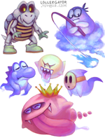 Super Mario World Ghouls by Lollergator