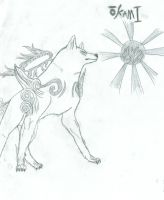 the great goddess amaterasu by k-9girl
