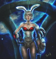 Miss. space rabbit by yuh515