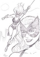 Golden Age Black Cat by MichaelPowellArt