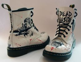 The Walking Dead customised Dr Martens by RTyson