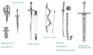 weapon sketch sample by Wen-M