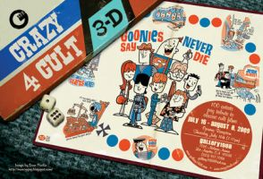 Crazy 4 Cult postcard by Montygog