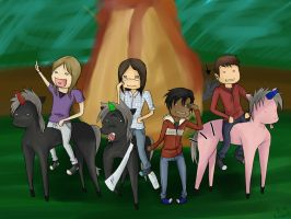 we're riding our black unicorns by Kristen-KH