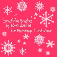 Snowflake Brushes by edwardbemine