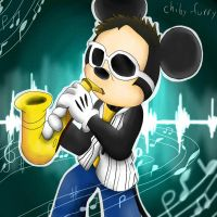 Epic Sax Mouse by chiby-furry