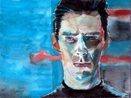 Khan - Star Trek Into Darkness (Watercolor) by Shingel