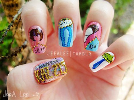 Supernatural Nails 3 | Characters by jeealee