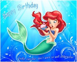 Little Mermaid Birthday Card by Keah