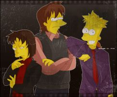 Adult Michael,Nelson,Bart by Matsuri1128