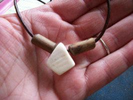 Deer Antler And Wood Necklace by PymatuningCrafts