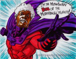 SAM JACKSON IS MAGNETO!! by RonAckins