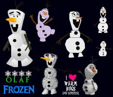 Picture Versions Of Frozen's Olaf - 1 by ESPIOARTWORK-102