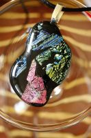 Freeform Dichroic Pendant Mixed colors by Dimolicious