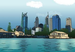Perth Cityscape by resresres