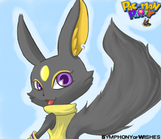 The Black Fox from Pac-man Party by SymphonyofWishes
