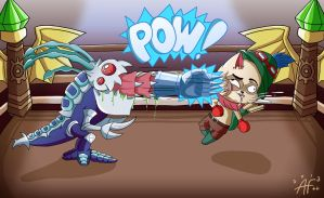 LoL S3 DigiArt Throwdown: Boxing, Kog'Maw style! by Starforsaken101
