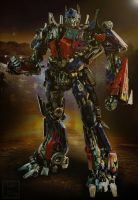 Standing As One - Optimus Prime by Lady-Elita-One