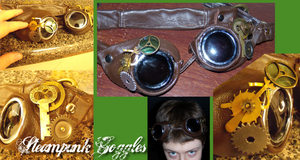 Steampunk Goggles by Timekeeper101