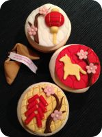 Chinese New Year Cupcakes by cake4thought
