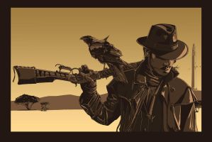 Gunslinger. by thedarkinker