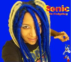 Sonic the Hedgehog Dreads edited by Zero-G-Raven