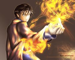 Roy Mustang - Flame Alchemist by Indignation