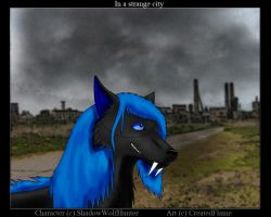In a strange city by CreatedFlame