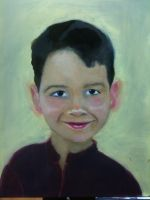 Young Portrait III, mid-glaze by dianaprobst