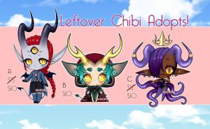 Leftover Chibi Adopts (Price Reduced/OPEN) by Blackraven-Adopts
