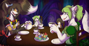 Tea Party In Wonderland by Clawstarz
