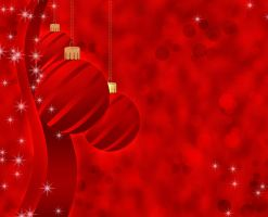 Red Christmas card background by Lyotta