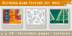Texture Set 12: Xmas Paper 2 by Ruthenia-Alba