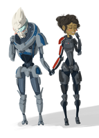 Mass Effect: Dorks in Love by Aelwen
