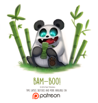 Day 1425. Bam-Boo! by Cryptid-Creations