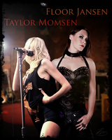 Singers Floor Jansen and Taylor Momsen by PZNS