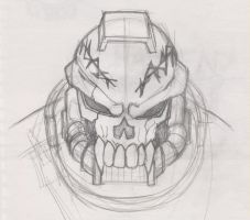 Space Marine Chaplain Sketch by Unforgiven-Rage
