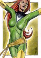 Phoenix - X-Men - Sketch Card by J-Redd
